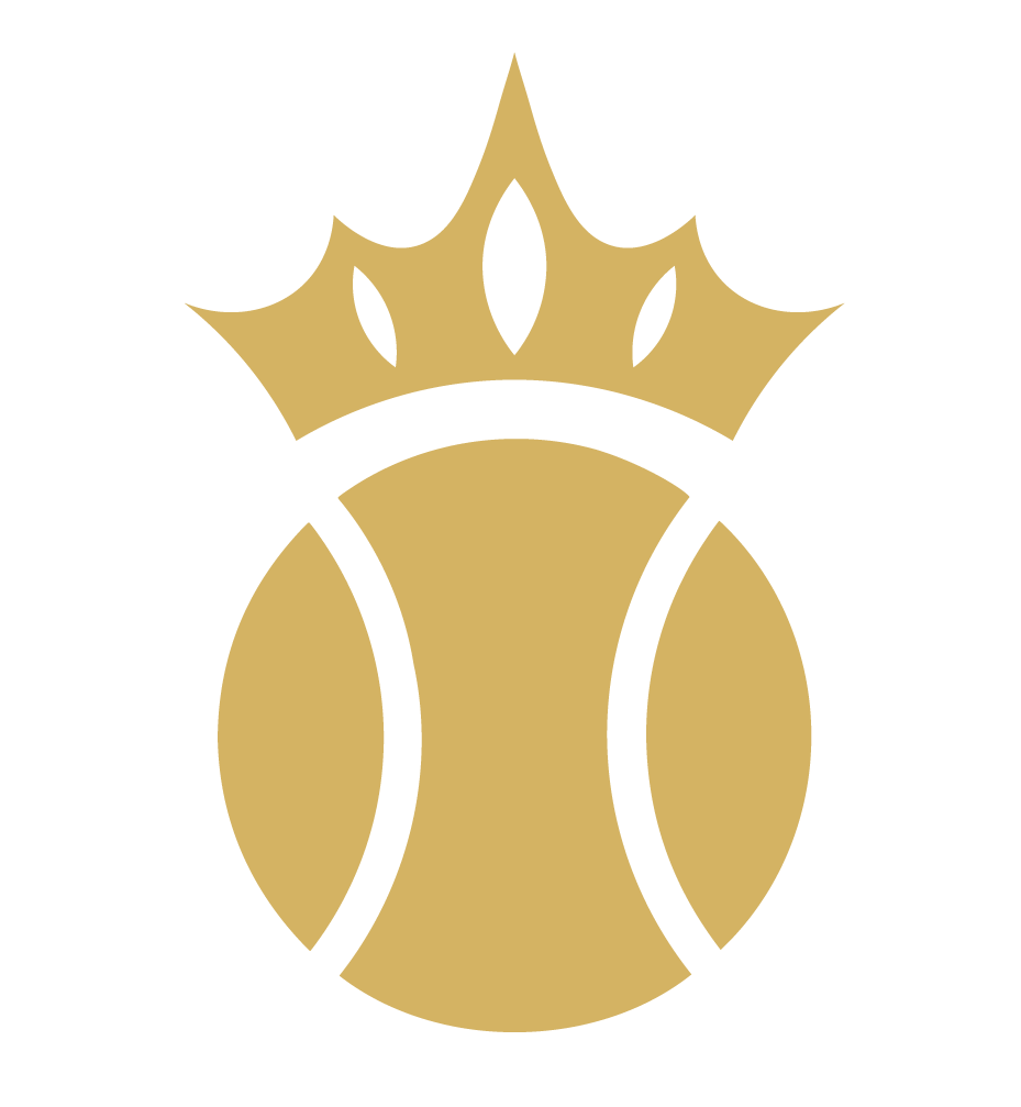 tennis ball icon with crown