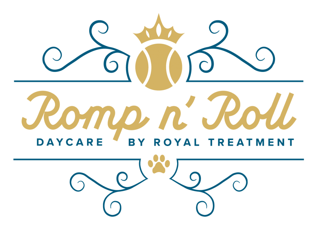 Romp n' Roll Daycare by Royal Treatment logo